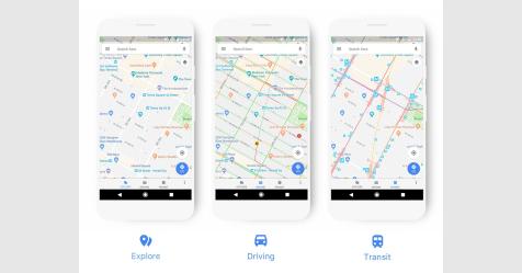 خرائط جوجل تظهر في شكل جديد