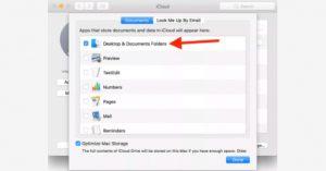 مزامنة المجلدات عبر iCloud