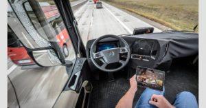 النقل بالشاحنات بدون سائق
