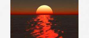 ظاهرة غروب الشمس الزرقاء