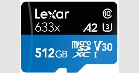 الإعلان عن أضخم بطاقة A2 microSD في العالم
