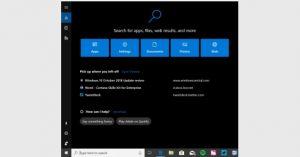 تحديثات Cortana ونافذة البحث