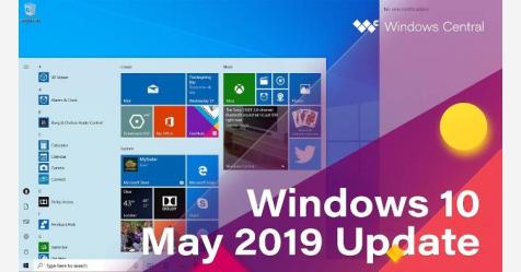 تحديث ويندوز 10 مايو 2019 الرئيسي الآن متاح للجميع
