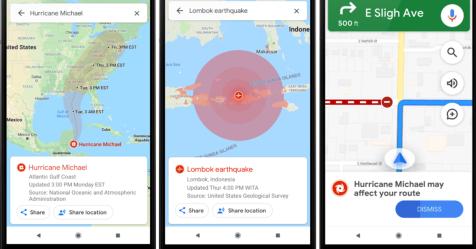 ميزة جديدة من خرائط جوجل تحذرك من الكوارث والسرعة الزائدة