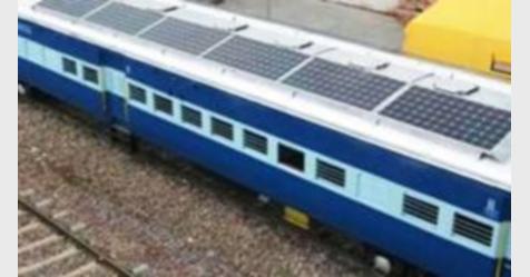 أول مزرعة للطاقة الشمسية لتشغيل سكة حديدية