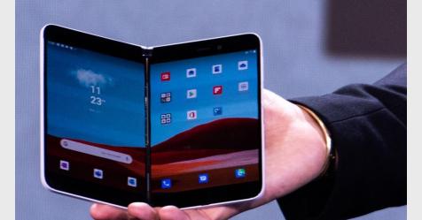 مايكروسوفت تكشف عن هاتف الأندرويد Surface Duo قابل للطي مع شاشتين