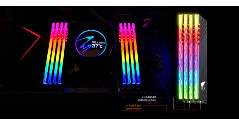 الإعلان عن ذاكرة AORUS RGB DDR4 16GB 3600MHz