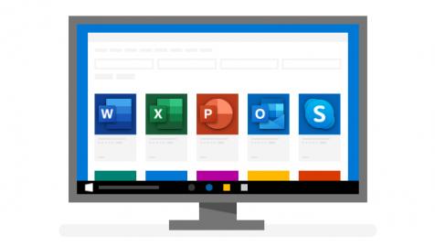 كمبيوتر يعرض أهم تطبيقات Windows